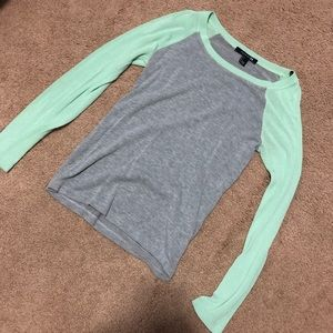 Baseball style long sleeve shirt